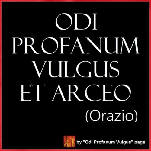 Citazione Orazio Odi profanum vulgus senza traduz - Sacca sportiva