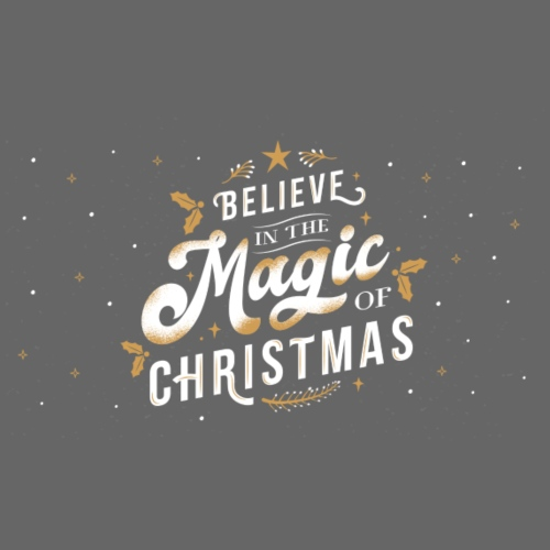 Believe in the Magic of Christmas - Drawstring Bag