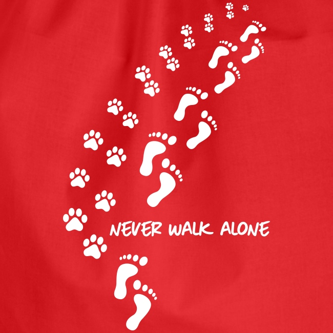 Vorschau: never walk alone dog - Turnbeutel