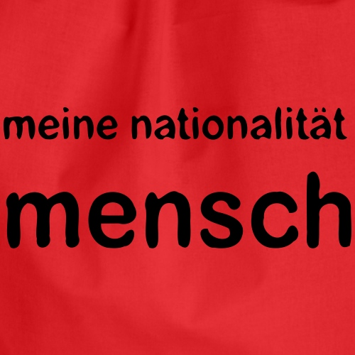 nationalität mensch v 170 - Turnbeutel