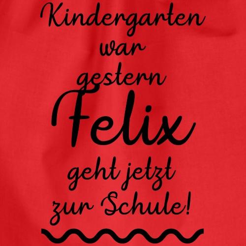 Kindergarten war gestern (Felix) - Turnbeutel