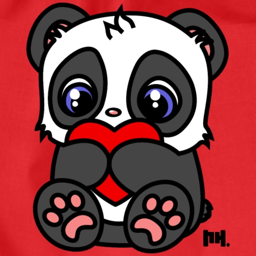 Little Heart Panda - Turnbeutel
