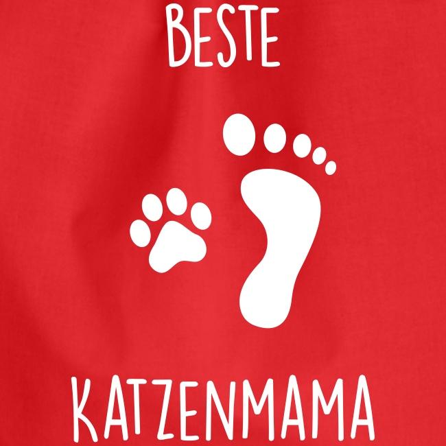 Vorschau: Beste Katzenmama - Turnbeutel