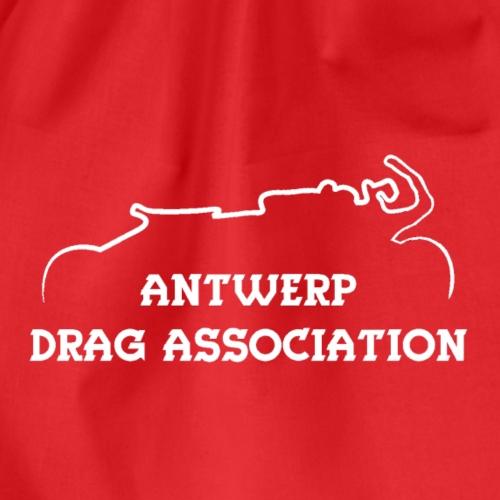 ADA DRAG Logo Klein Wit - Gymtas