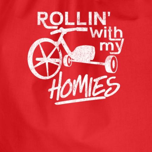 Rolling with my Homies Shirt Dreirad Shirt - Turnbeutel
