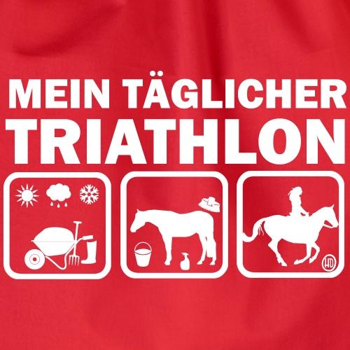 Mein täglicher Triathlon Pferd - Turnbeutel