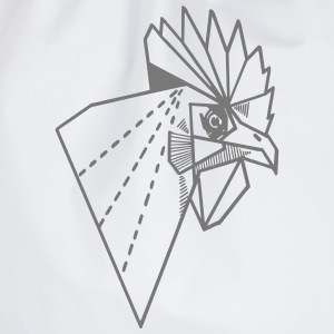 rooster kids white silver metallic t - Gymtas