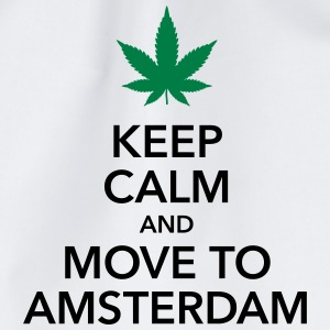 keep calm move to Amsterdam Holland Cannabis Weed - Turnbeutel