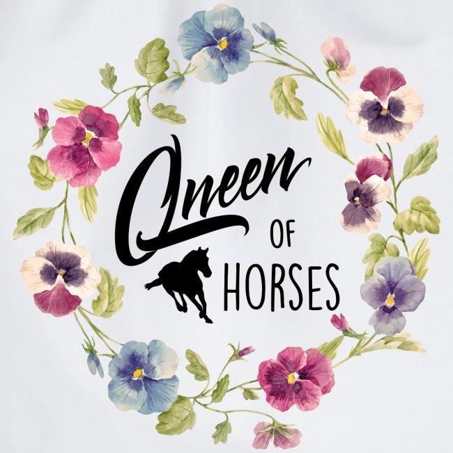 Vorschau: queen of horses - Turnbeutel