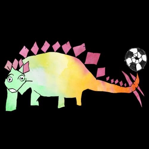 Fussball-Dino: Regenbogen-Stego - Turnbeutel