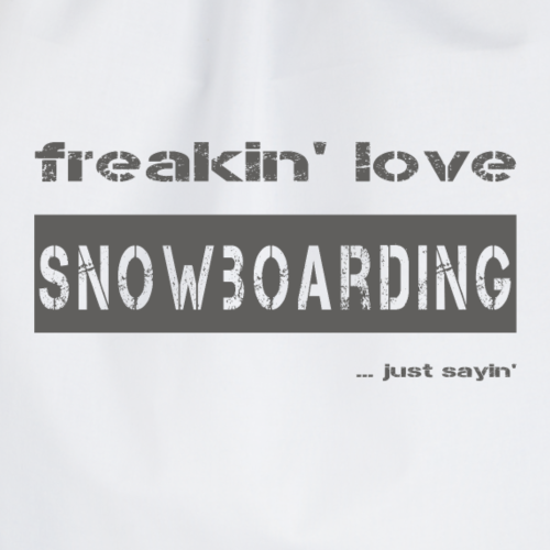 love SNOWBOARDING - dark T-Shirt - Turnbeutel