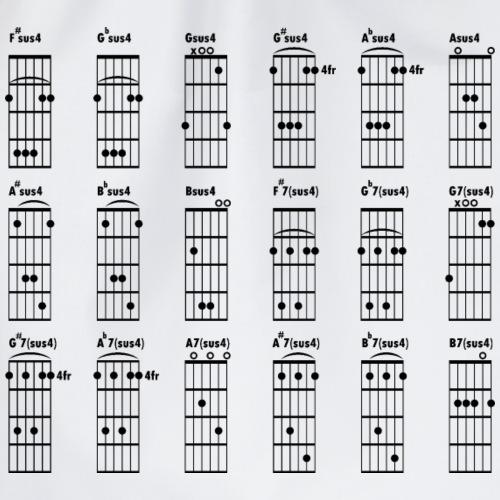 Gitarre Griftabelle_quadratisch - Turnbeutel