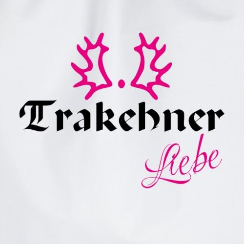 Trakehner Liebe schwarz mit pink - Turnbeutel
