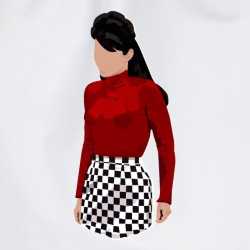 Lupetto rossa e imperdibile gonna a scacchi - Sacca sportiva