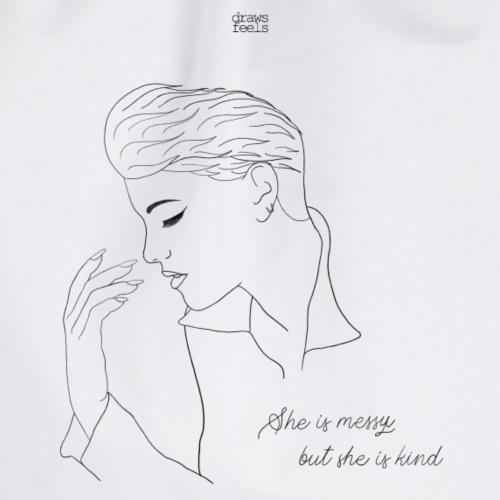 She is messy but she is kind [Alba Reche] - Mochila saco