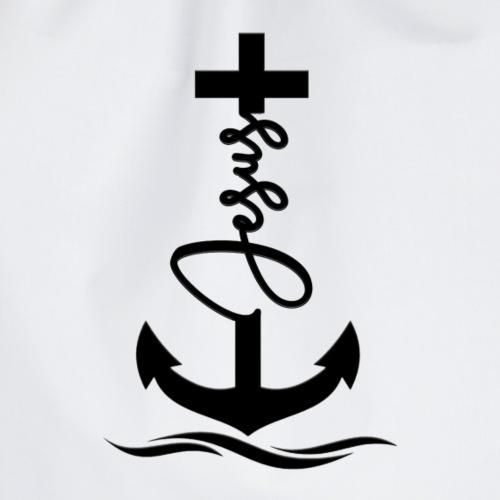 Jesus-Anker black Special - Turnbeutel
