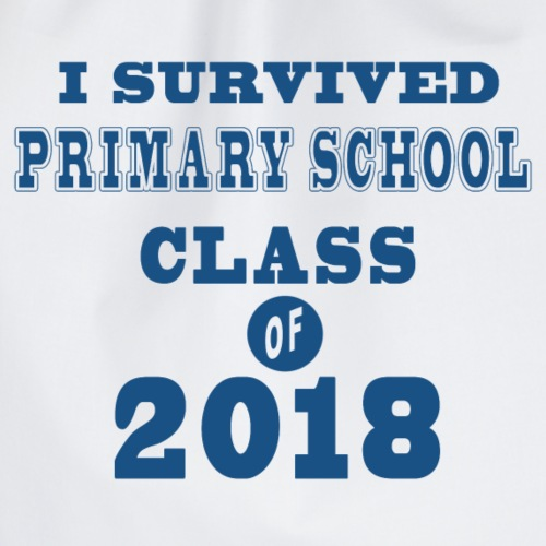 I survived Primary School class of 2018 blue - Turnbeutel