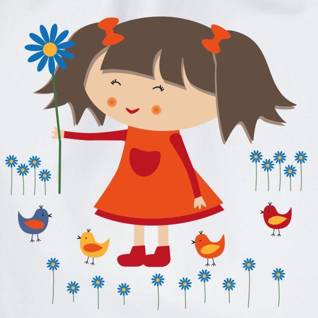 Happy Meitlis - Vögel und Blumen