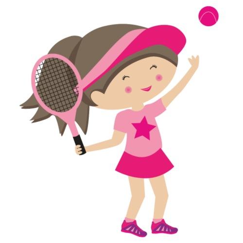 Happy Meitlis - Tennis Mädchen - Turnbeutel