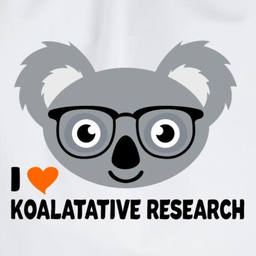 I Love Koalatative Research - Drawstring Bag
