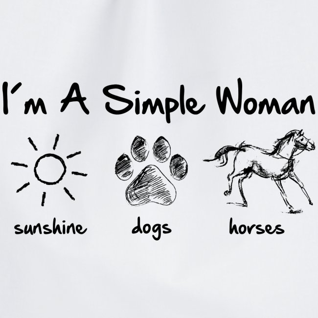 Vorschau: simple woman horse dog - Turnbeutel