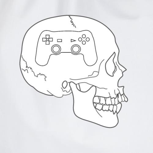 Gaming im Kopf - Totenkopf Schädel Controller - Turnbeutel