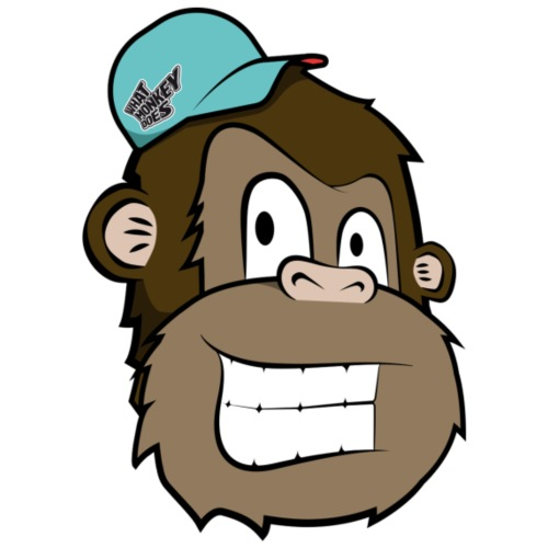 Monkey Head - Drawstring Bag