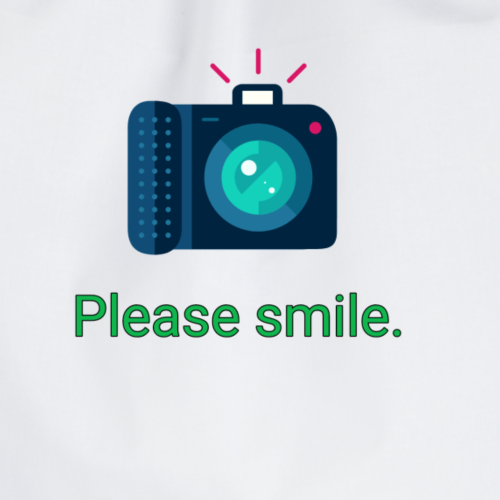 Please smile. - Turnbeutel