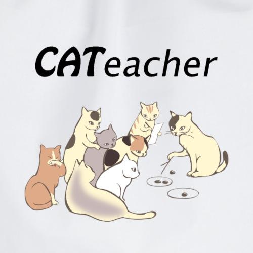 cat teacher Katt lärare roliga katter - Gymnastikpåse