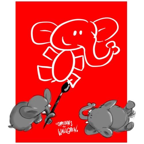 When Elephants Paint Elephants (Accesories) - Drawstring Bag