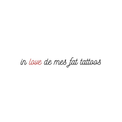 In love de mes fat tattoos - Sac de sport léger