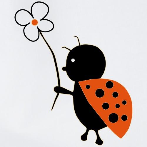Lieveheersbeestje met bloem - Gymtas