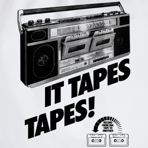 IT TAPES TAPES! Boombox Ghettoblaster - Turnbeutel