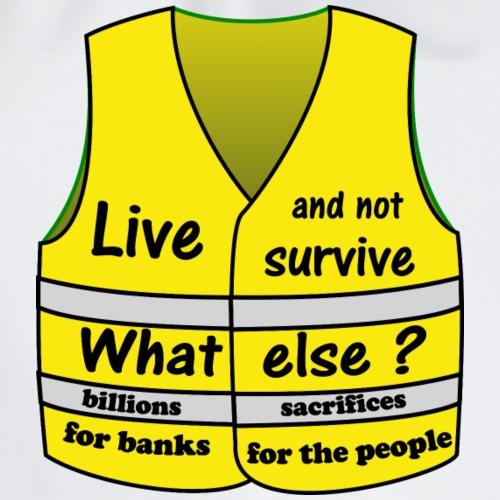 gilets jaunes vivre et non survivre est ce trop ?? - Sac de sport léger