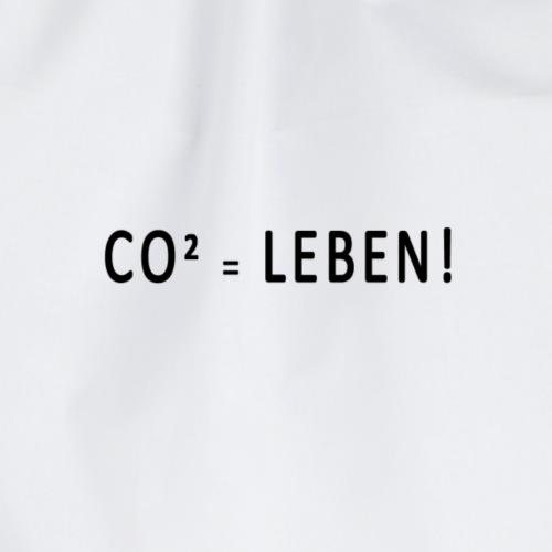 CO² = Leben! Black - Turnbeutel