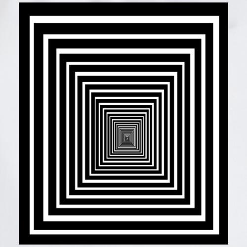 effet d'optique tunnel pyramide carrés noir blanc - Sac de sport léger