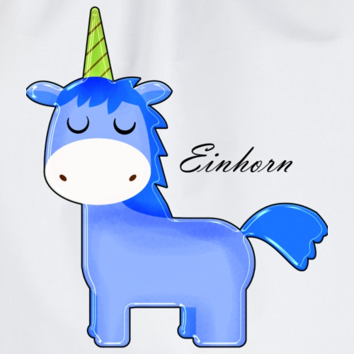 Blaues Einhorn - Turnbeutel