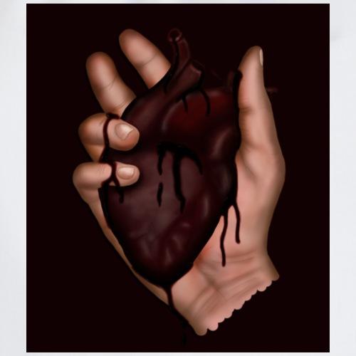 blood heart - Drawstring Bag