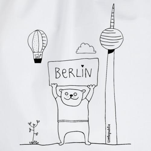 Berliner Bär   zum Ausmalen   littlepublic - Turnbeutel