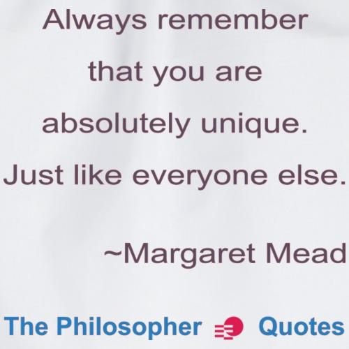 Margaret Mead Unique Philosopher b - Gymtas