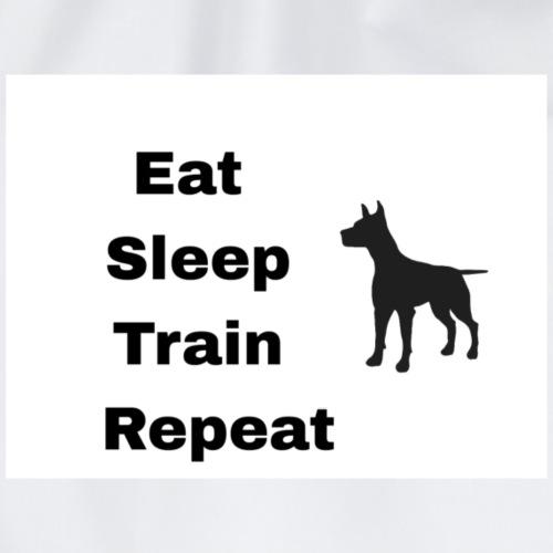 Eat. Sleep. Train. Repeat. - Drawstring Bag
