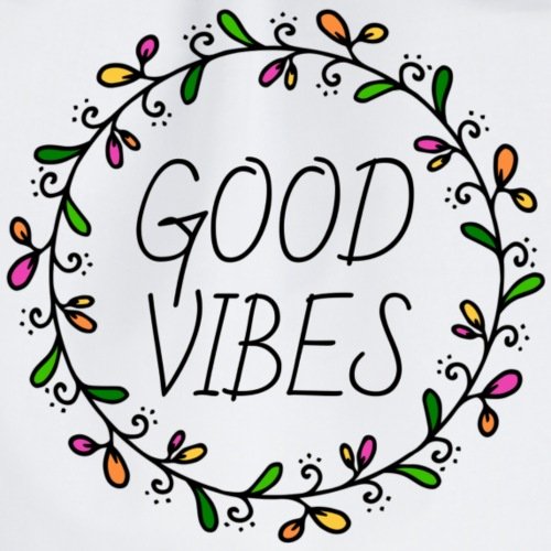 Good vibes, only, positiv, Positivität, Motivation - Turnbeutel