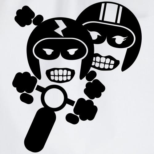 Motorcycle pair 1 - Drawstring Bag