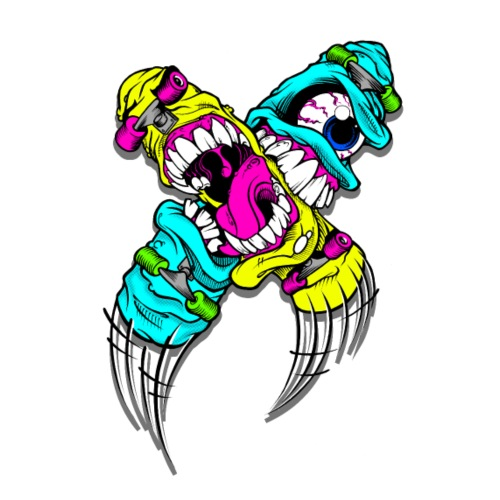 Devils Cartoon Cartoon Character - Drawstring Bag