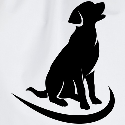 siluetta perro logo colores - Mochila saco