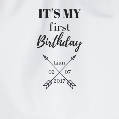 IT`S MY FIRST BIRTHDAY - Turnbeutel