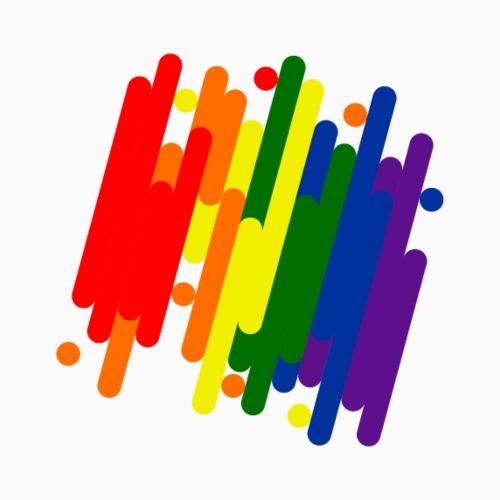 Abstract Pride Design - Drawstring Bag