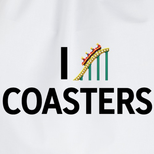 I love coasters - Drawstring Bag