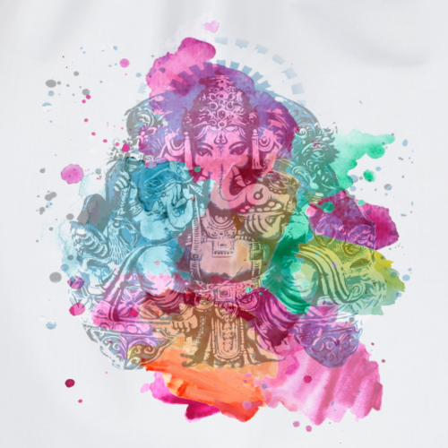Ganesha Watercolor Sommer Kollektion - Turnbeutel