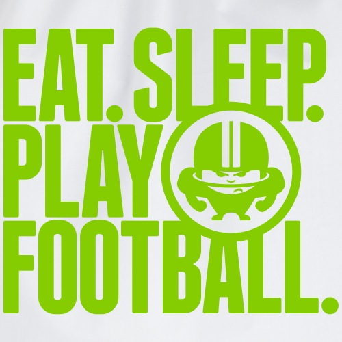 EAT. SLEEP. PLAY FOOTBALL. GREEN/WHITE